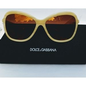 🆕Dolce & Gabbana Beige Butterfly 59mm Sunglasses